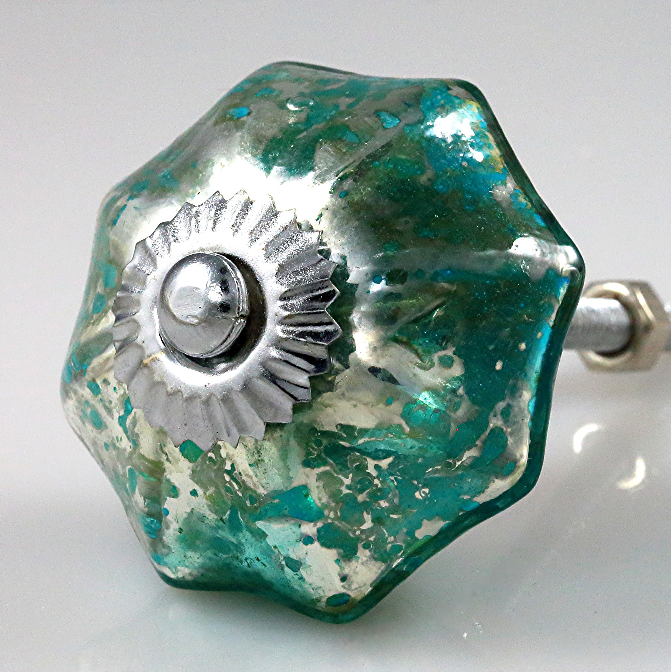 Mercury Glass Cabinet Knobs