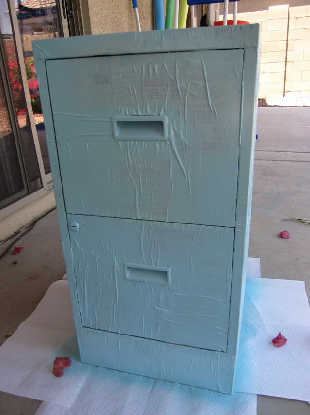 Metal File Cabinet Makeover