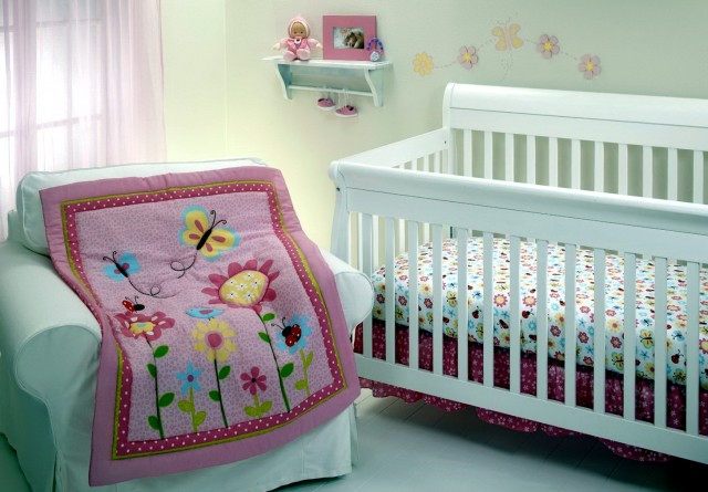 Mini Crib Bedding For Girls
