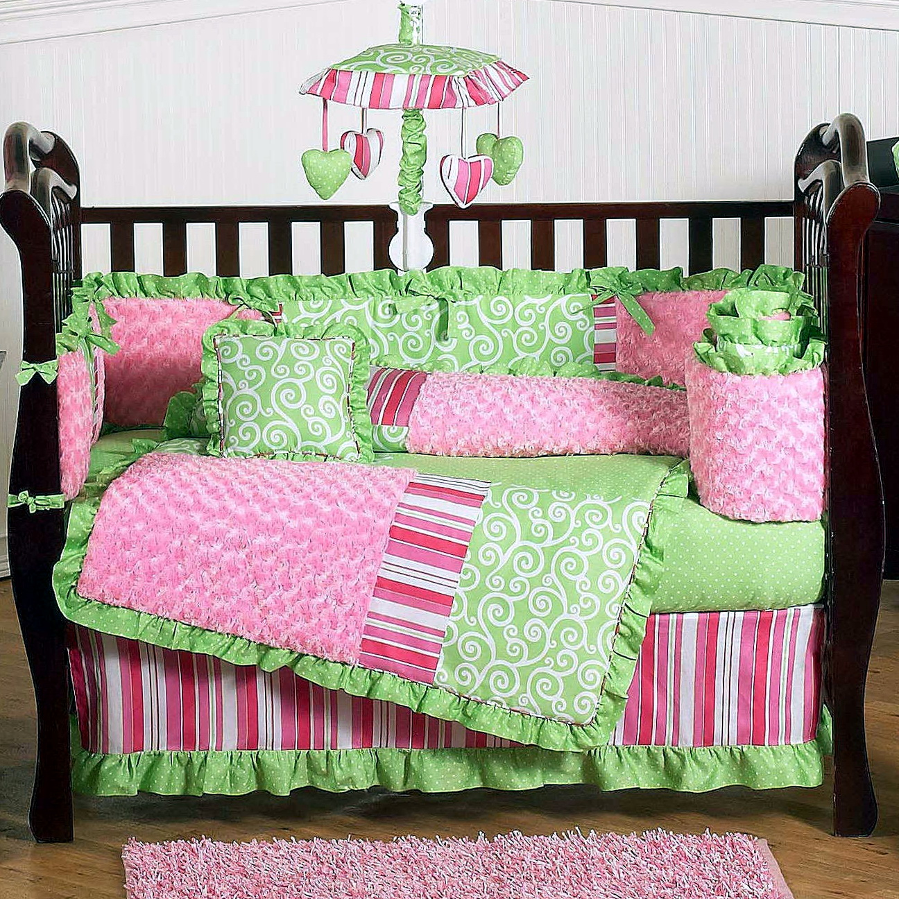 Mini Crib Bedding Sets For Girls