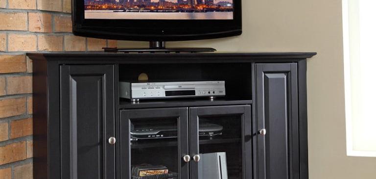 Modern Corner Media Cabinet