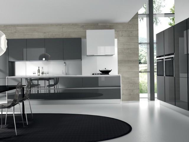 Modern Glass Kitchen Cabinet Doors