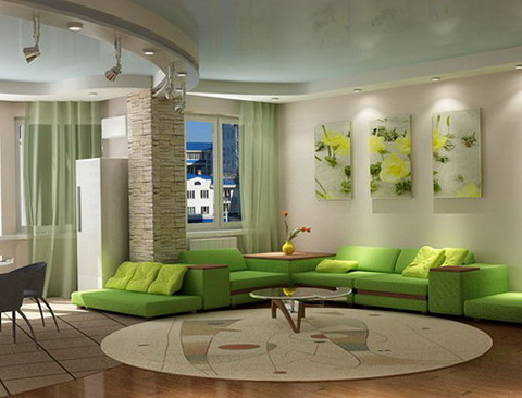 Modern Living Room Furniture Green