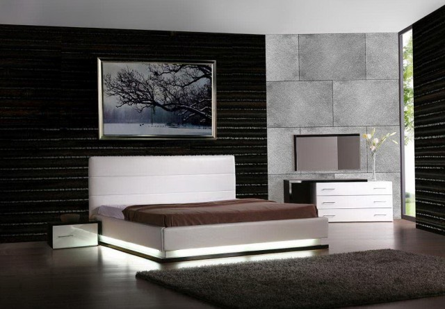 Modern Platform Beds With Lights