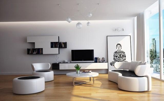 Modern White Living Room Furniture