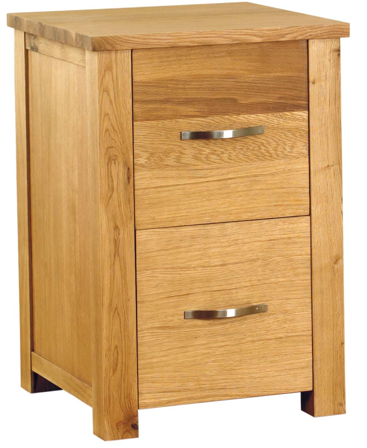 Oak Two Drawer File Cabinet