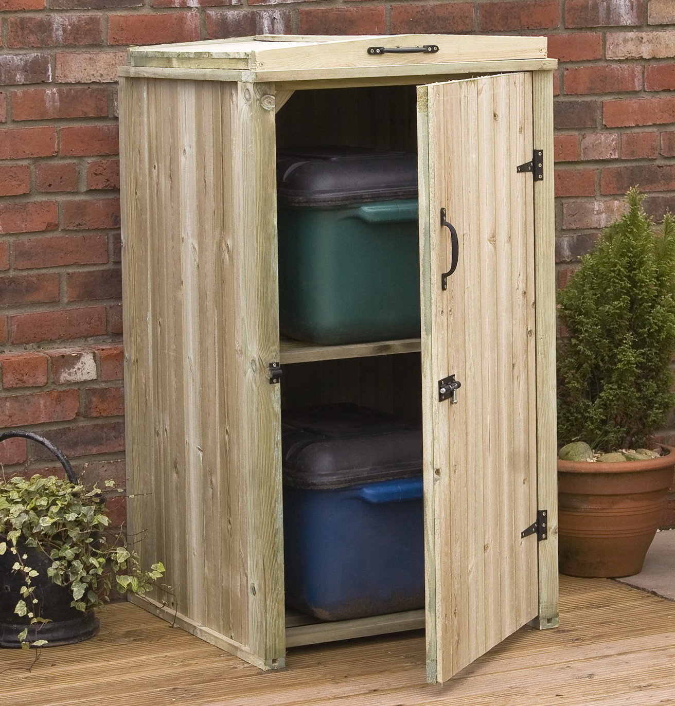 Outdoor Storage Cabinet Wood