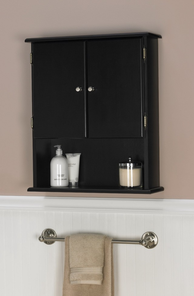 Over The Toilet Cabinet Black
