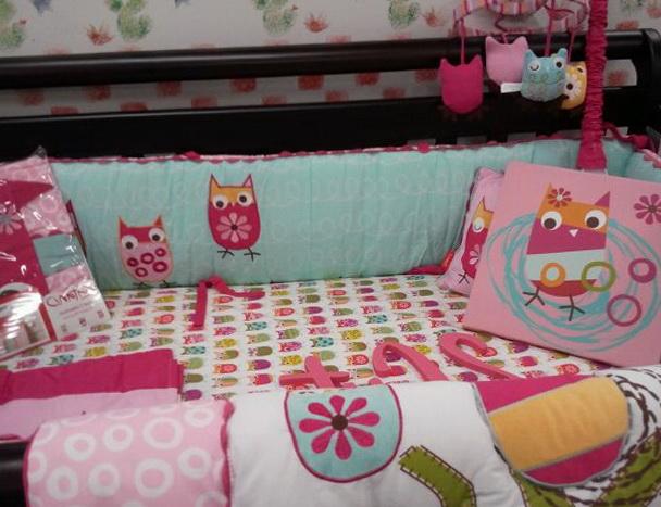 Owl And Elephant Baby Bedding