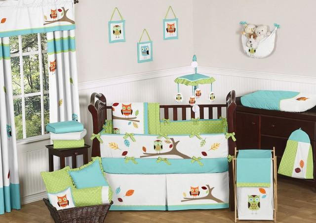 Owl Crib Bedding For Boys 2
