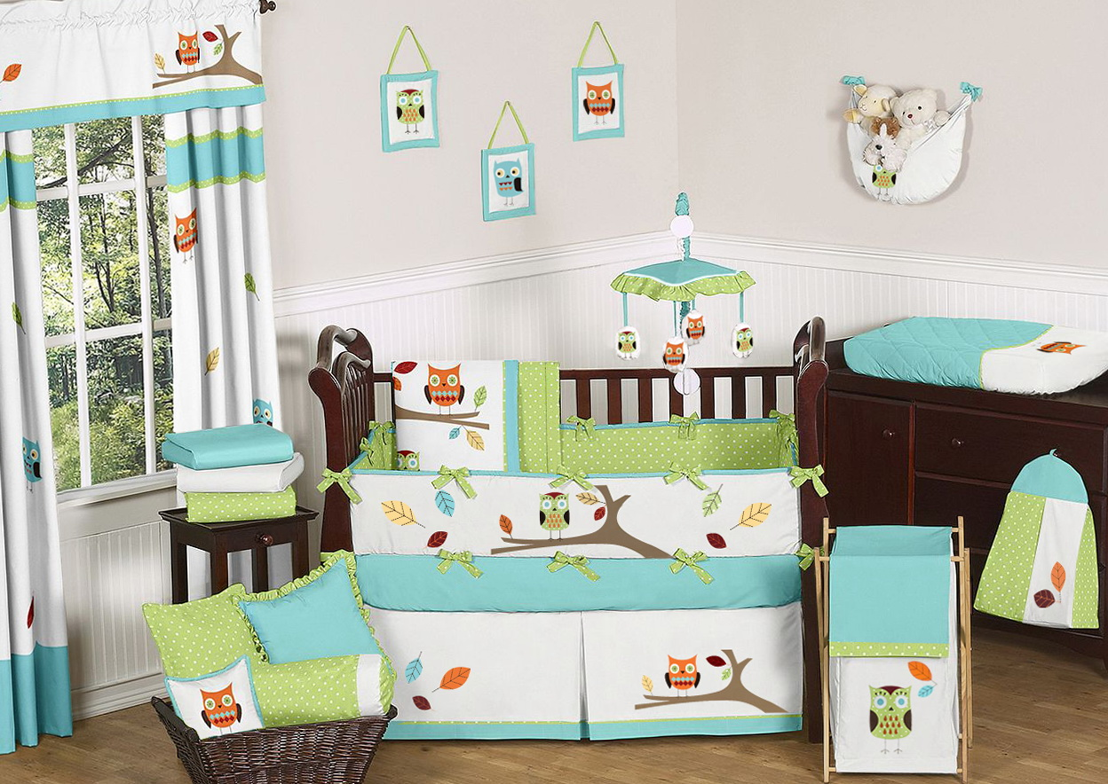 Owl Crib Bedding For Boys 2