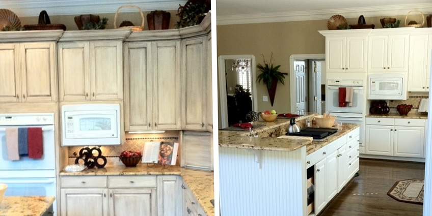 Paint Kitchen Cabinets Before After