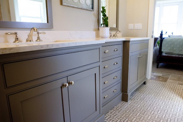 Painting Bathroom Cabinets Gray