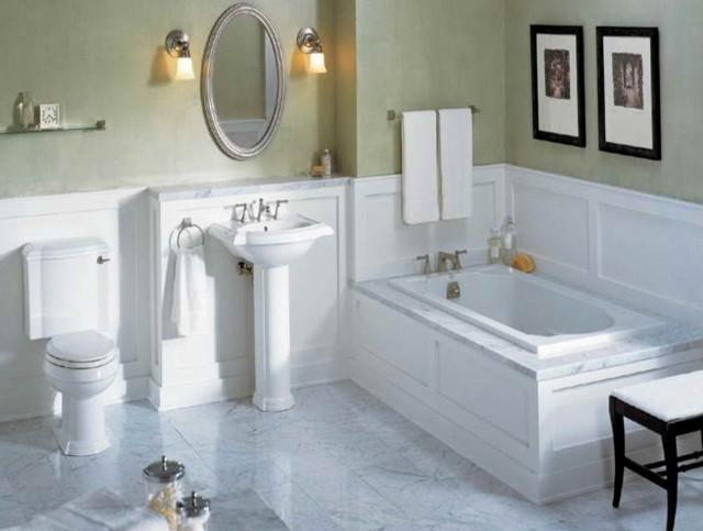 Painting Bathroom Tiles White