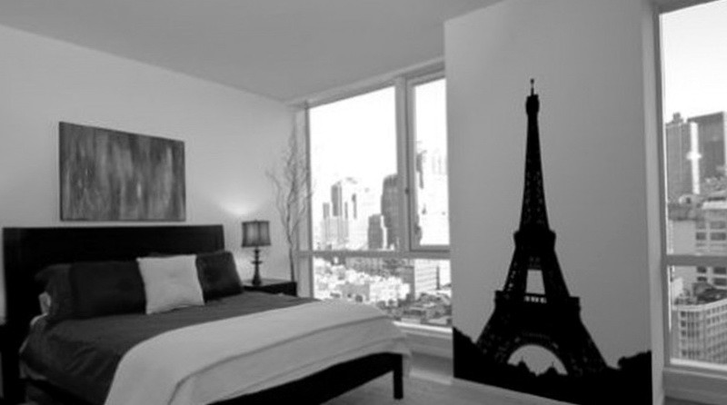 Paris Themed Bedrooms Black And White