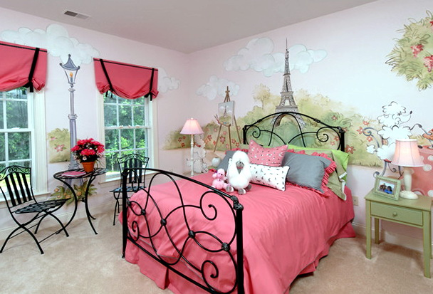 Paris Themed Bedrooms For Girls