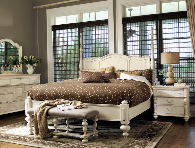 Paula Deen Bedroom Furniture Sets Pieces Steel Magnolia Tobacco Finish