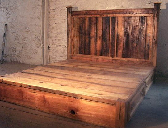 Platform Bed With Drawers And Headboard