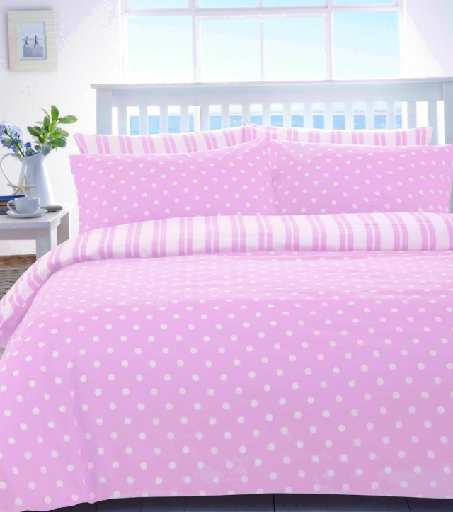 Polka Dot Bedding Pink