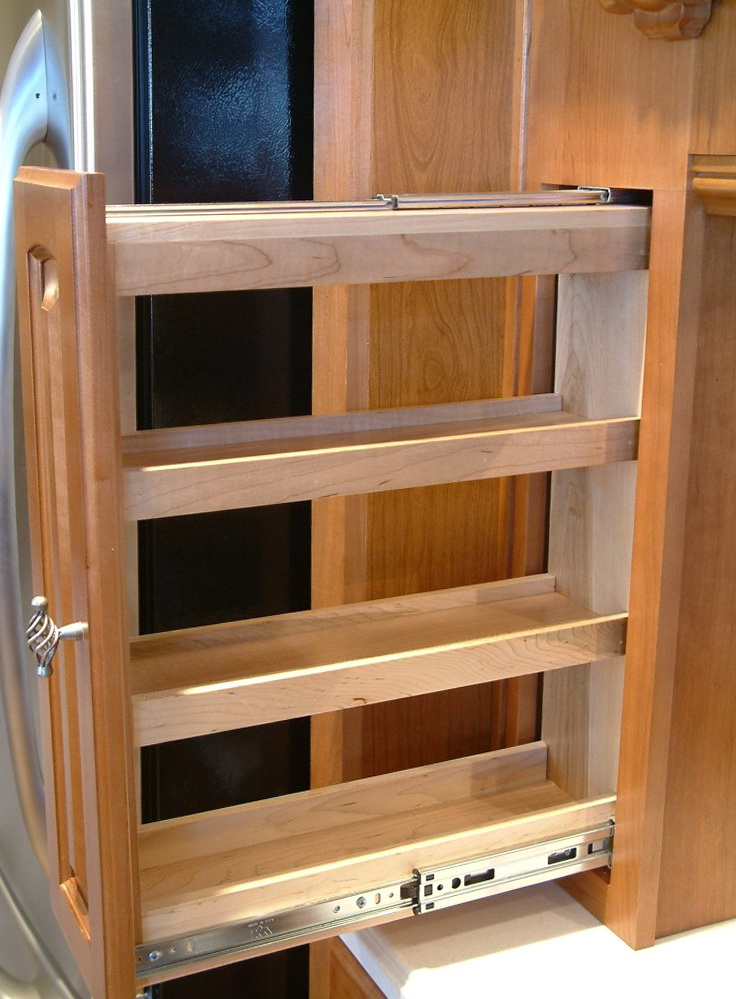 Pull Out Spice Racks For Cabinets
