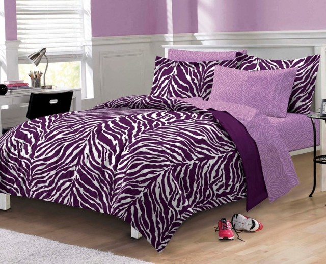 Purple And Pink Zebra Bedding