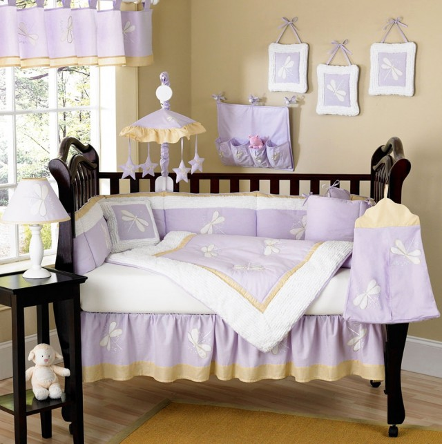 Purple Baby Bedding Crib Sets