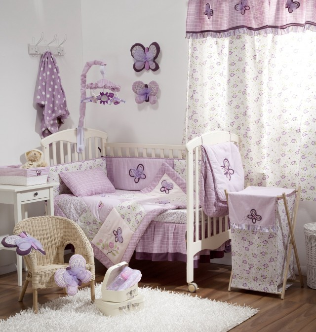 Purple Baby Bedding For Girls
