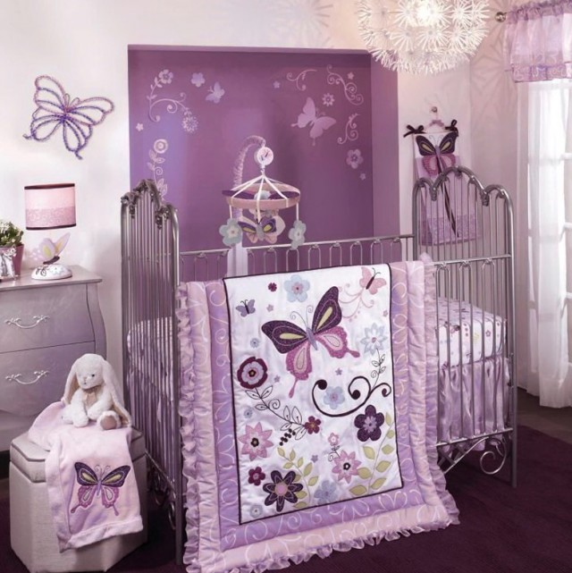Purple Crib Bedding For Girls