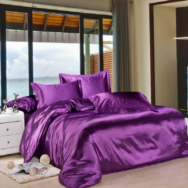 Purple Silk Bed Sheets