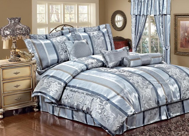 Queen Bed In A Bag With Curtains