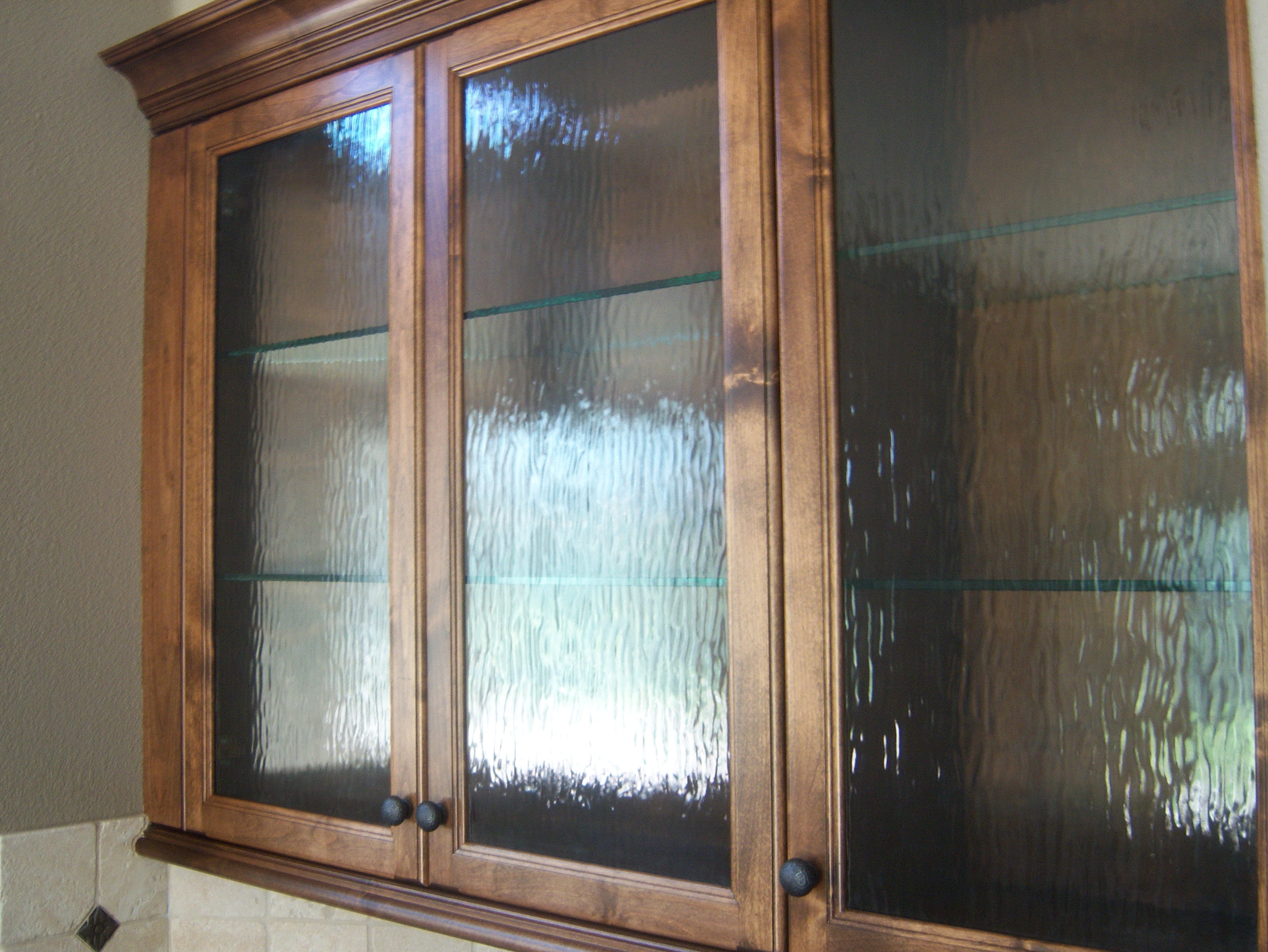 Rain Glass Kitchen Cabinet Doors