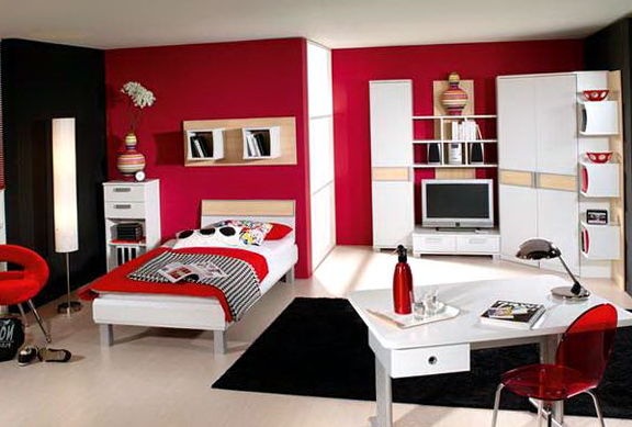 Red Bedroom Ideas For Girls