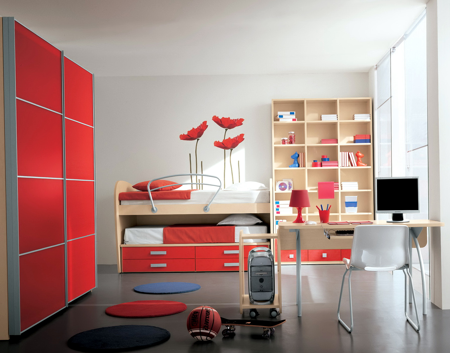 Red Bedroom Ideas For Kids