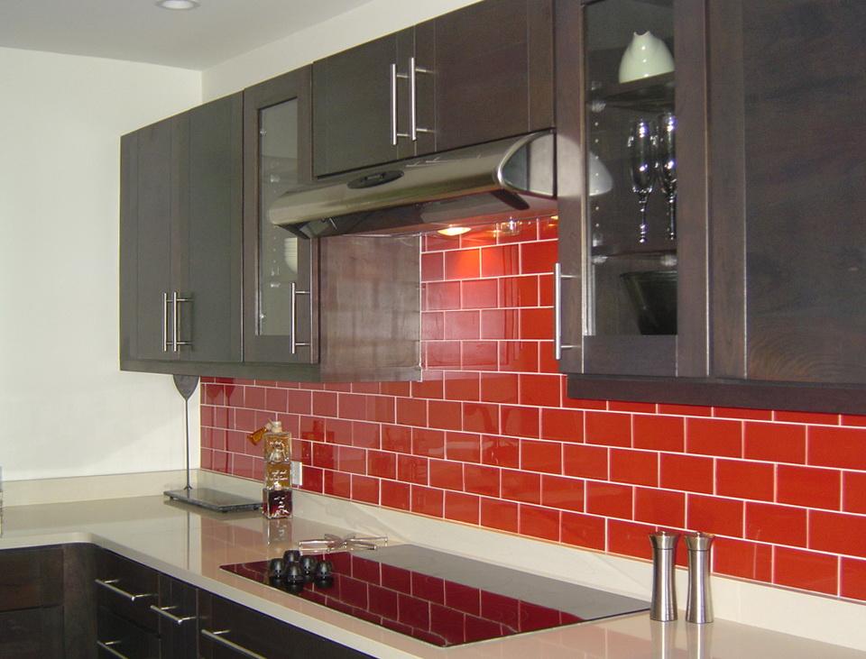 Red Kitchen Backsplash Tiles