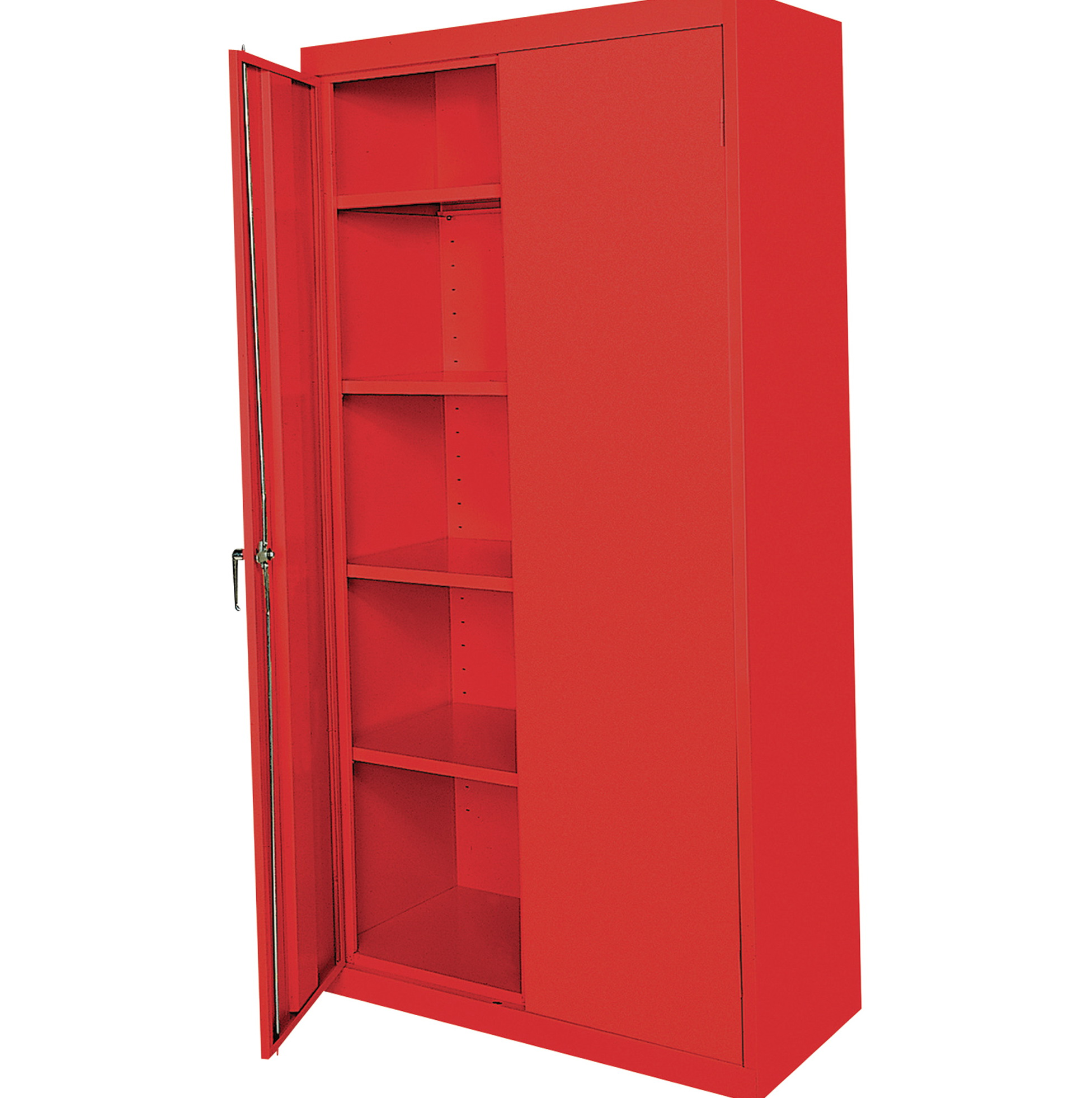 Red Metal Storage Cabinets