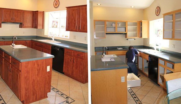 Refacing Kitchen Cabinets Before And After