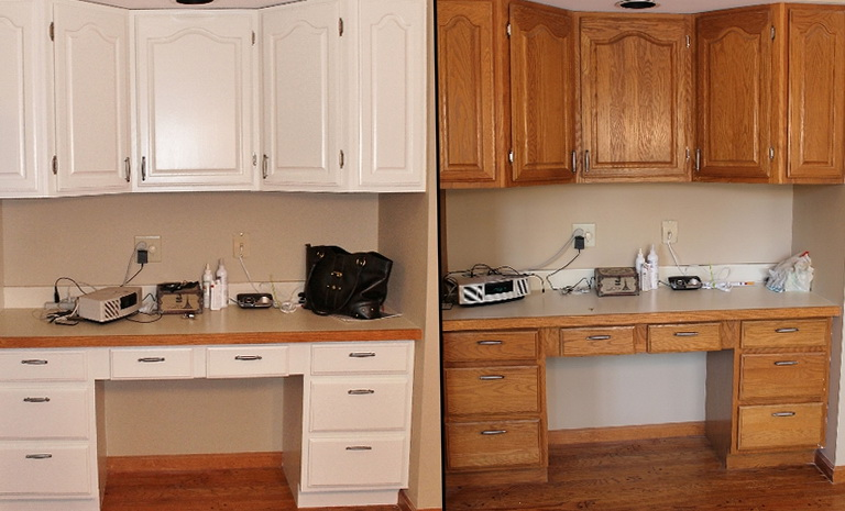 Refinishing Kitchen Cabinets Before And After Pictures