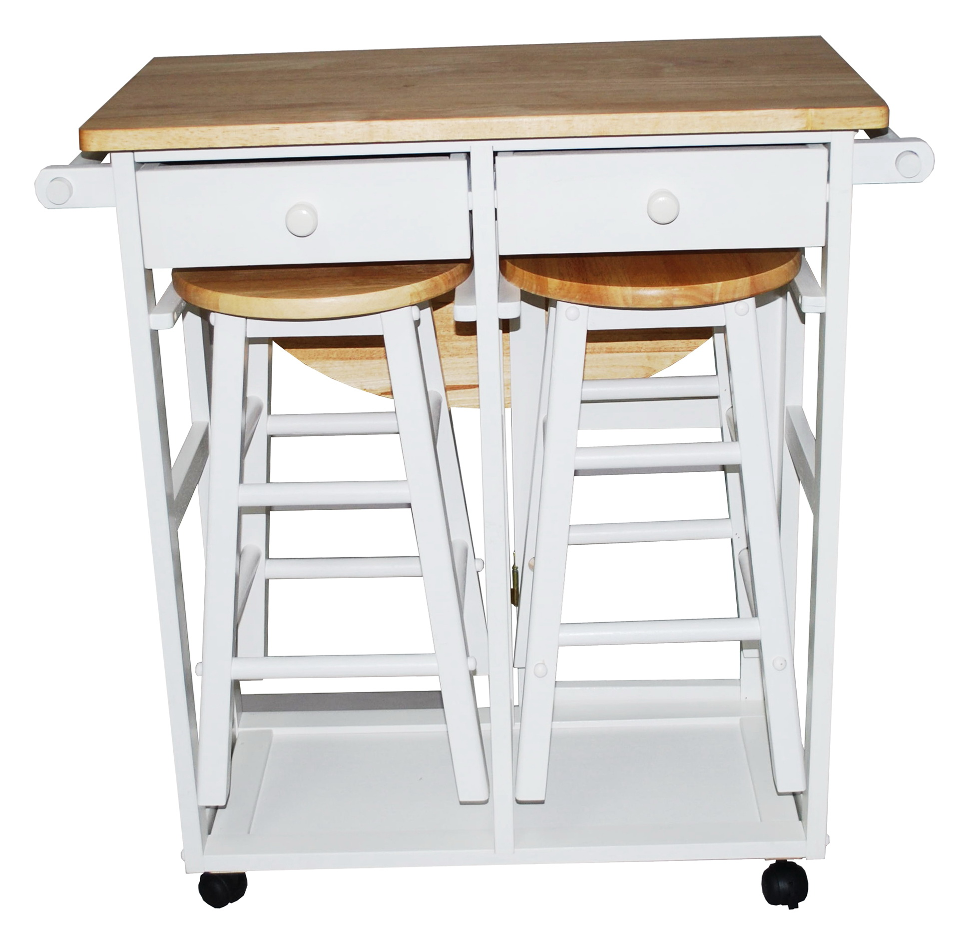Rolling Kitchen Island With Stools