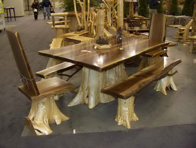 Rustic Kitchen Tables With Benches
