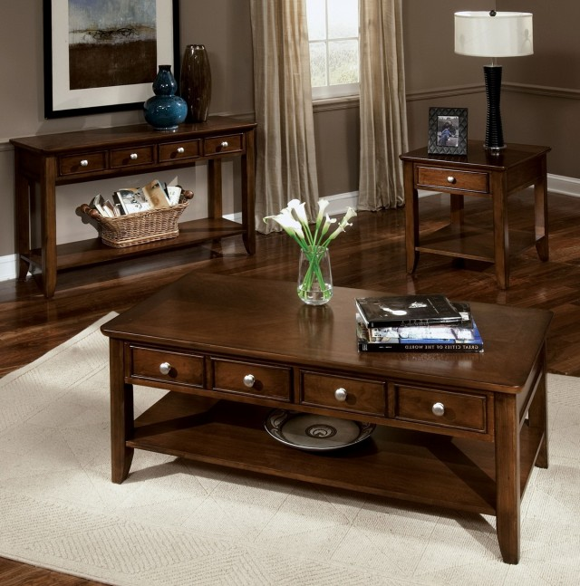Rustic Living Room Table Sets