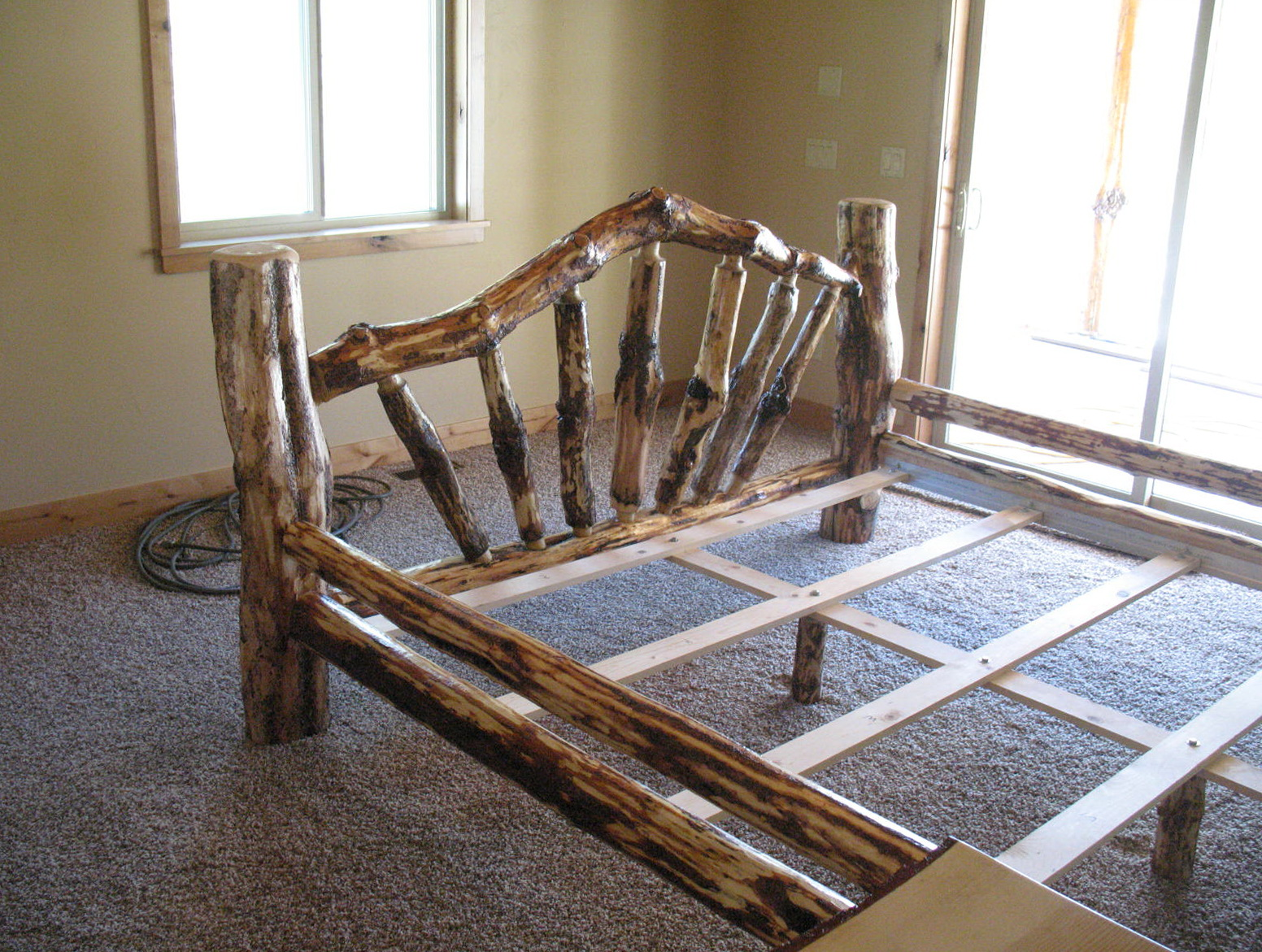 Rustic Log Bed Frames