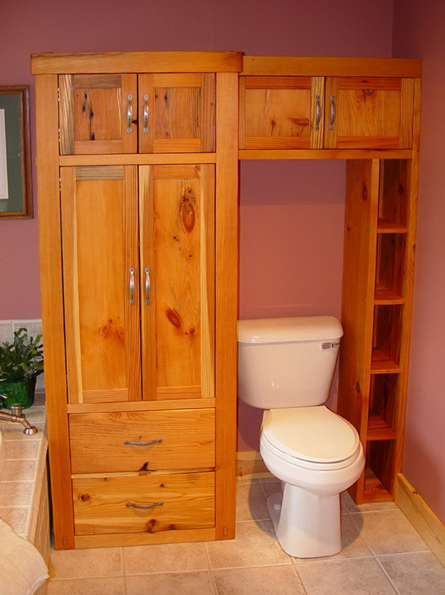 Rustic Over Toilet Cabinet