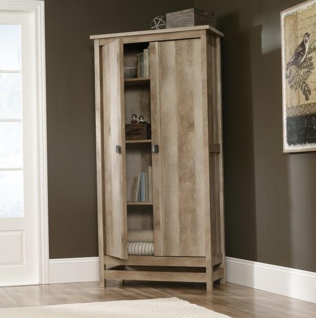 Sauder Storage Cabinet In Ebony Ash