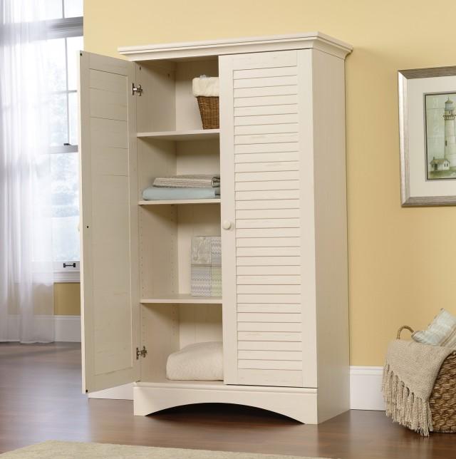 Sauder Storage Cabinet White