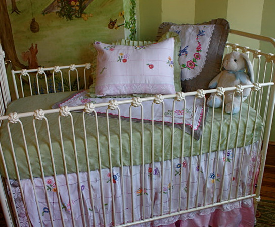 Shabby Chic Baby Bedding Floral