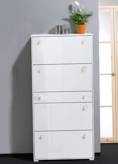 Shoe Storage Cabinet White Gloss