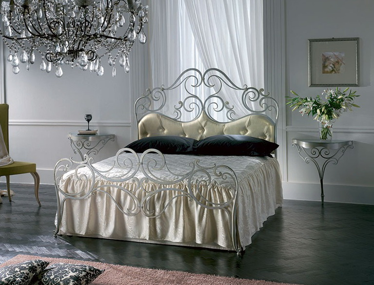 Silver Wrought Iron Bed Frames