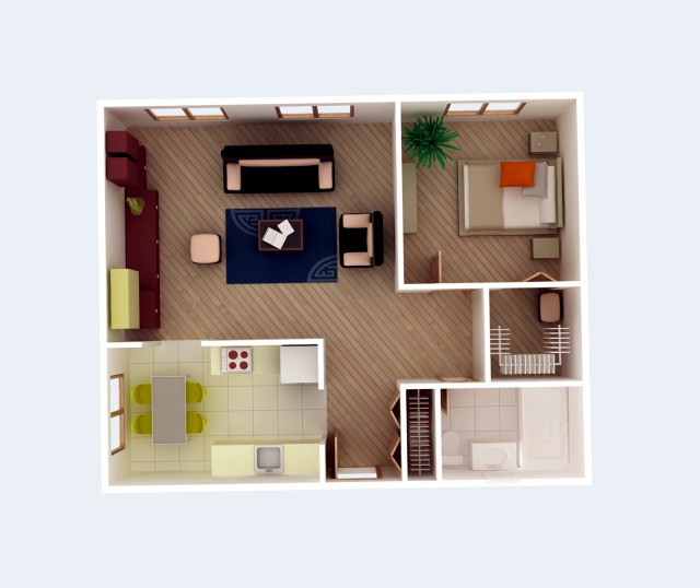Simple One Bedroom House Plans