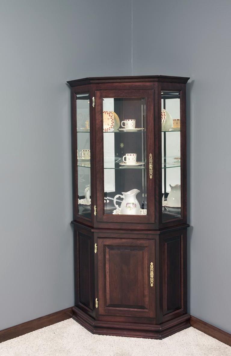 Small Corner Curio Cabinet