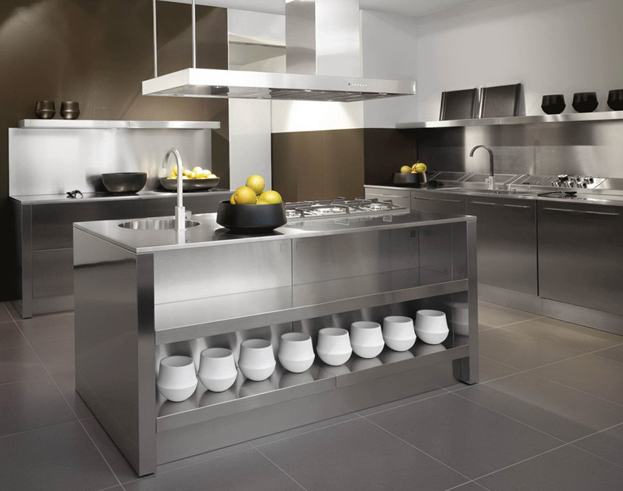 Stainless Steel Kitchen Island With Sink